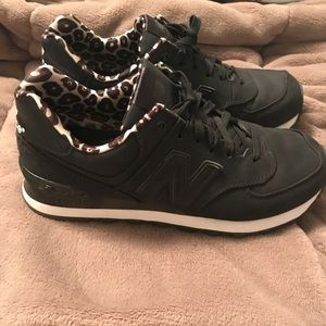 New Balance Limited Edition leopard print sneakers